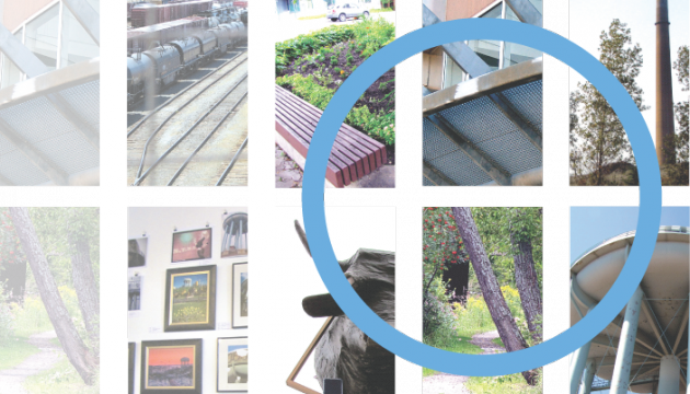 A selection of images of Sudbury fades in from the left, united by a blue circle overtop.