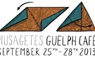 Musagetes Guelph Cafe Logo, with a triangularly folded map.