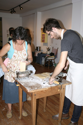 Pasta Supper Workshop, Eyelevel Gallery, Halifax NS. Photo courtesy of Tonia Di Risio